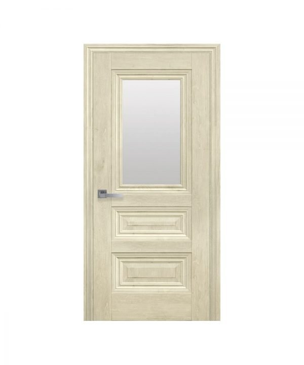 Межкомнатные двери Камилла ЭкоВуд орех гималайский со стеклом сатин