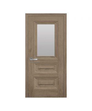 Межкомнатные двери Камилла ЭкоВуд орех европейский со стеклом сатин