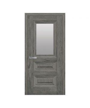 Межкомнатные двери Камилла ЭкоВуд орех сибирский со стеклом сатин