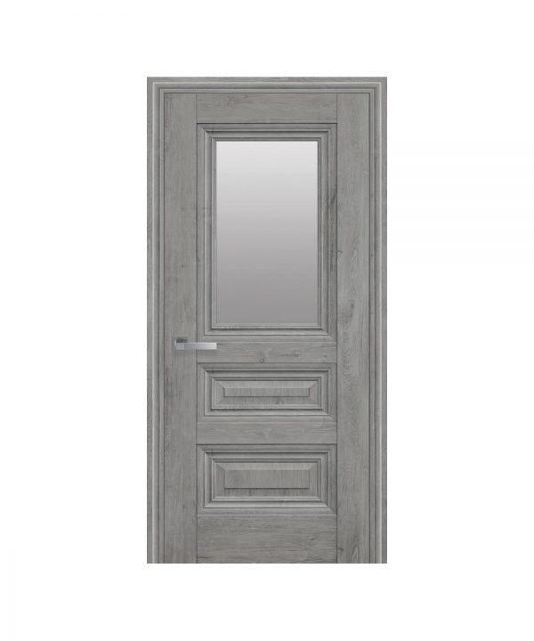 Межкомнатные двери Камилла ЭкоВуд орех скандинавский со стеклом сатин