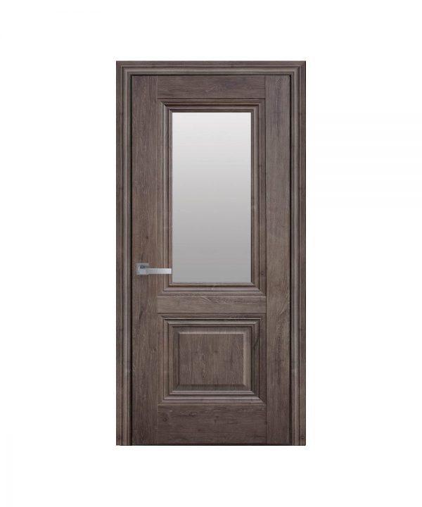 Межкомнатные двери Канна ЭкоВуд орех норвежский со стеклом сатин