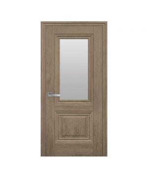 Межкомнатные двери Канна ЭкоВуд орех европейский со стеклом сатин