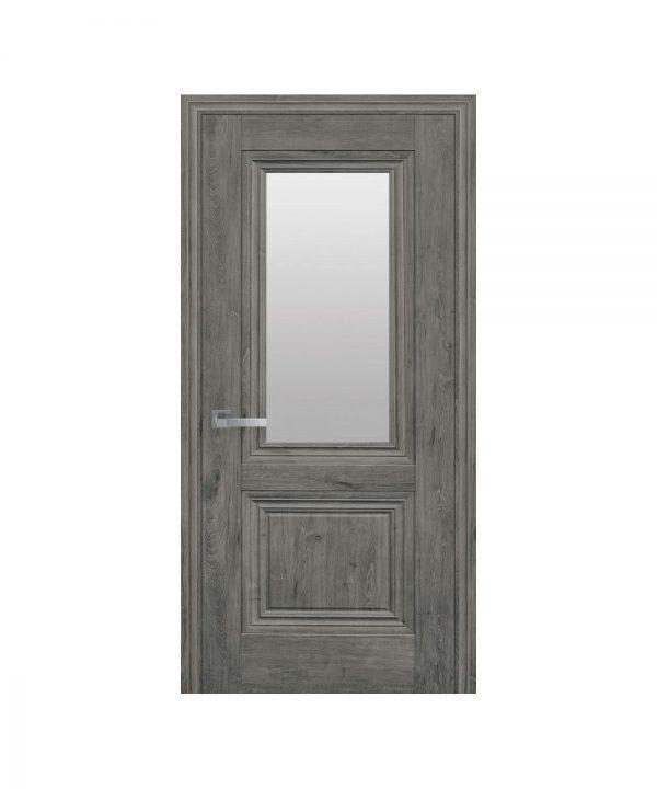 Межкомнатные двери Канна ЭкоВуд орех сибирский со стеклом сатин