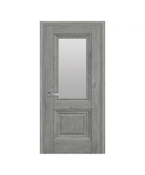 Межкомнатные двери Канна ЭкоВуд орех скандинавский со стеклом сатин
