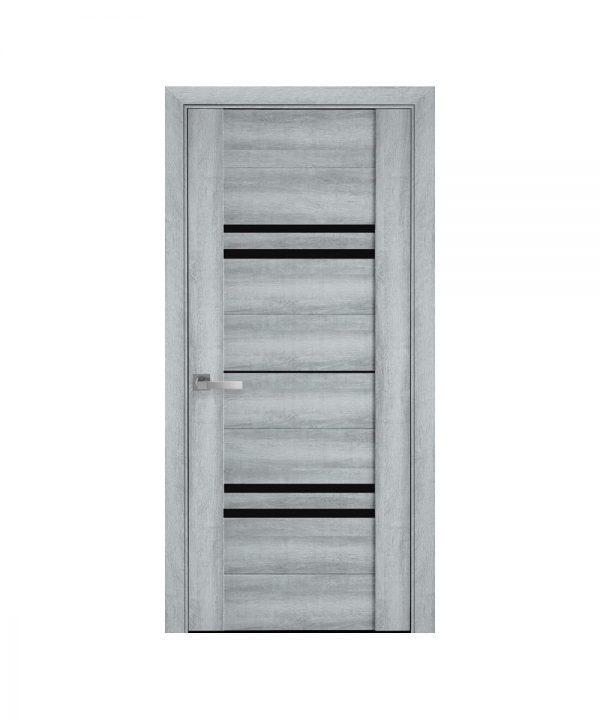 Межкомнатные двери Мерида ПВХ Viva бук кашемир с графитовым стеклом