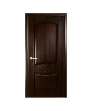 Межкомнатные двери Донна ПВХ DeLuxe венге new Глухое с гравировкой