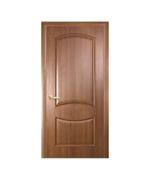 Межкомнатные двери Донна ПВХ DeLuxe золотая ольха Глухое с гравировкой