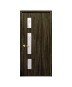 Межкомнатные двери Герда Экошпон венге dewild со стеклом сатин