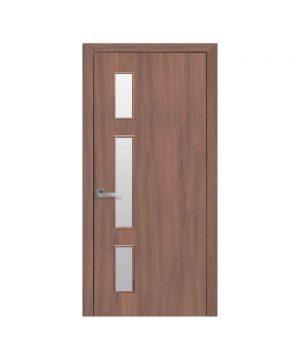 Межкомнатные двери Герда Экошпон орех 3d со стеклом сатин