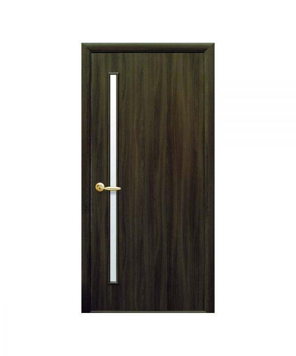 Межкомнатные двери Глория Экошпон кедр со стеклом сатин