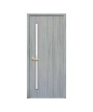 Межкомнатные двери Глория Экошпон ясень патина со стеклом сатин