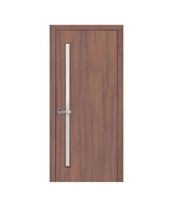 Межкомнатные двери Глория Экошпон ольха 3d со стеклом сатин