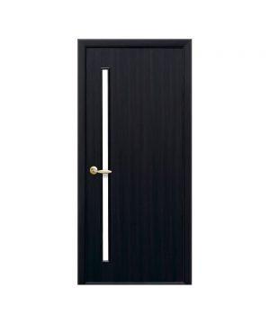 Межкомнатные двери Глория Экошпон венге dewild со стеклом сатин