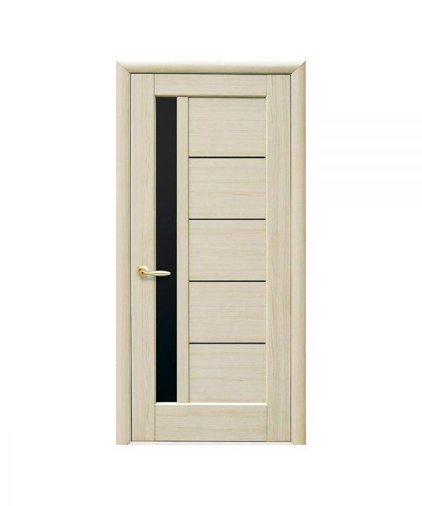 Межкомнатные двери Грета ПВХ DeLuxe ясень new со стеклом сатин