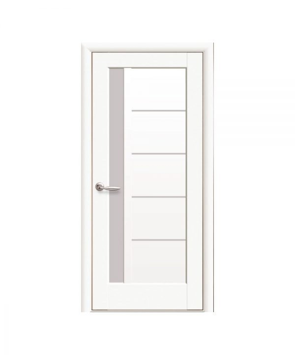 Межкомнатные двери Грета Premium белый матовый со стеклом сатин