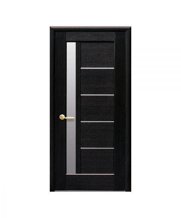 Межкомнатные двери Грета ПВХ DeLuxe венге new со стеклом сатин