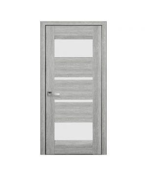 Межкомнатные двери Ибица Нано Флекс дуб сицилия со стеклом сатин