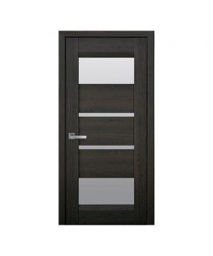 Межкомнатные двери Ибица Нано Флекс дуб шоколадный со стеклом сатин