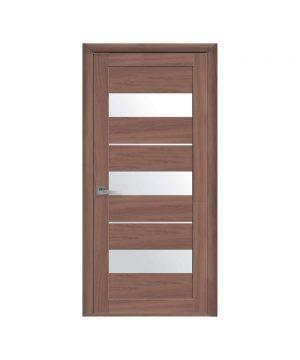 Межкомнатные двери Лилу Экошпон ольха 3d со стеклом сатин