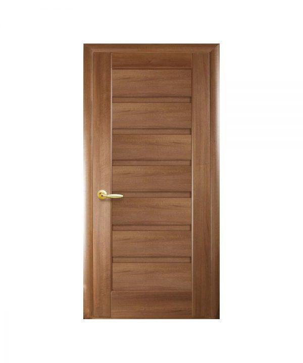 Межкомнатные двери Линнея ПВХ DeLuxe золотая ольха Глухое