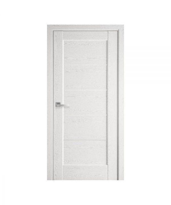 Межкомнатные двери Мира ПВХ DeLuxe патина серая со стеклом сатин
