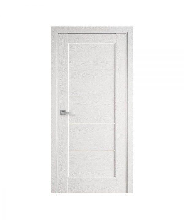 Межкомнатные двери Мира ПВХ DeLuxe патина со стеклом сатин