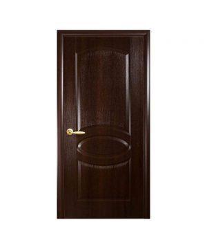 Межкомнатные двери Овал TP ПВХ DeLuxe каштан Глухое
