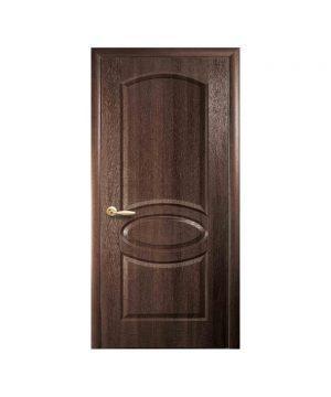 Межкомнатные двери Овал TP ПВХ DeLuxe орех premium Глухое