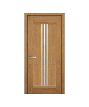Межкомнатные двери Рейс Нано Флекс дуб янтарный со стеклом сатин