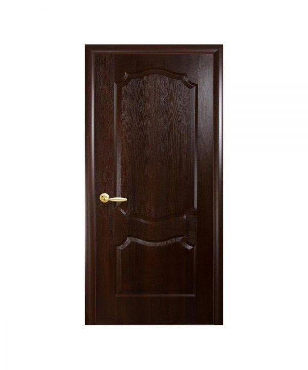 Межкомнатные двери Вензель TP UM ПВХ DeLuxe каштан Глухое