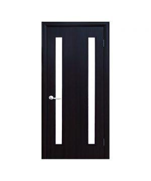 Межкомнатные двери Вера Экошпон кедр со стеклом сатин