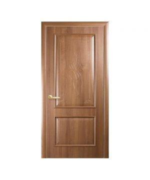 Межкомнатные двери Вилла ПВХ DeLuxe золотая ольха Глухое с гравировкой