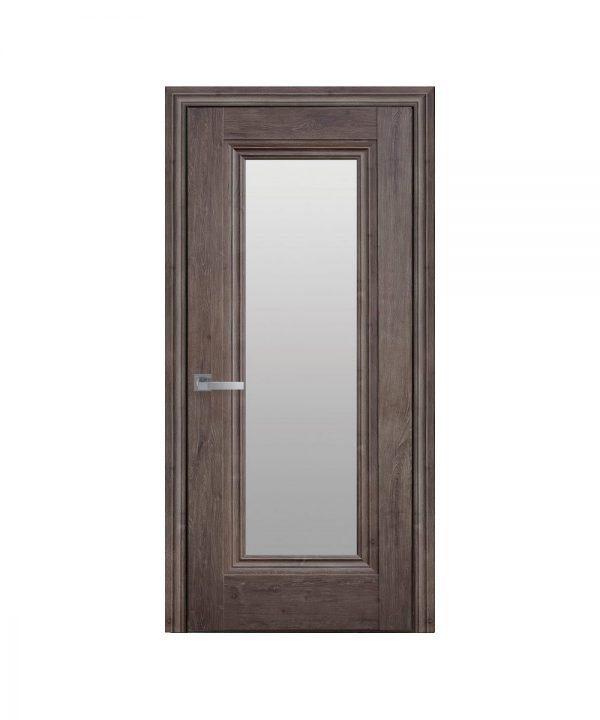 Межкомнатные двери Милла ЭкоВуд орех норвежский со стеклом сатин