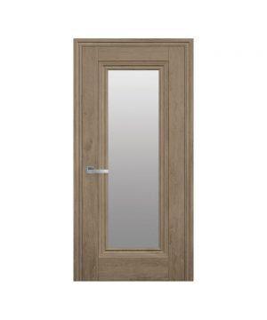 Межкомнатные двери Милла ЭкоВуд орех европейский со стеклом сатин
