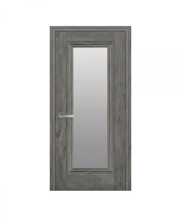 Межкомнатные двери Милла ЭкоВуд орех сибирский со стеклом сатин