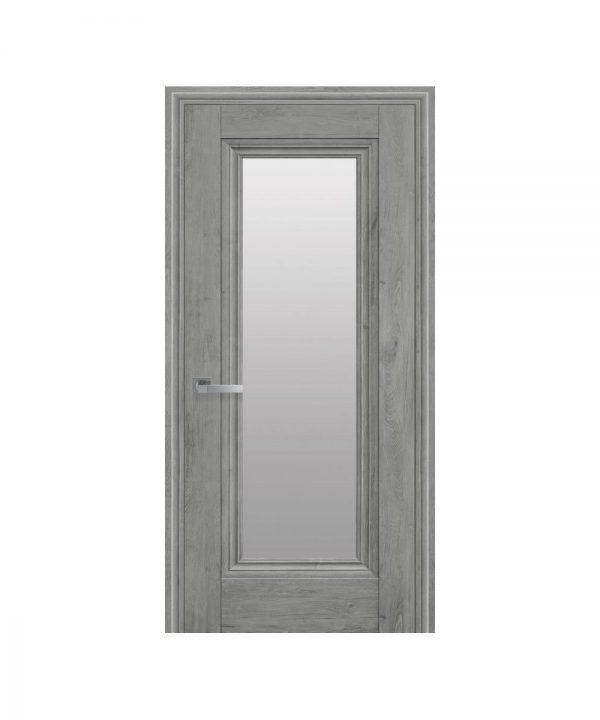 Межкомнатные двери Милла ЭкоВуд орех скандинавский со стеклом сатин