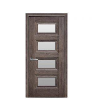 Межкомнатные двери Тесса ЭкоВуд орех норвежский со стеклом сатин