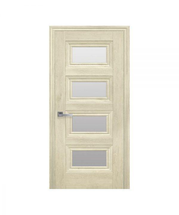 Межкомнатные двери Тесса ЭкоВуд орех гималайский со стеклом сатин