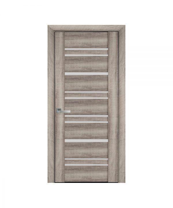 Межкомнатные двери Валенсия ПВХ Viva бук баварский со стеклом сатин