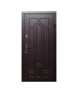 Входные двери ФОРТ Эконом Классик 860 Л Улица орех коньячный