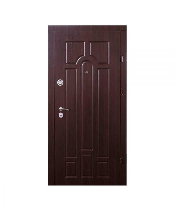 Входные двери Форт М Трио Классик 860 Л Улица орех коньячный
