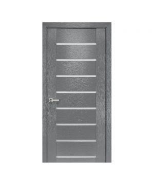 Межкомнатные двери Парма х-беж С черным стеклом
