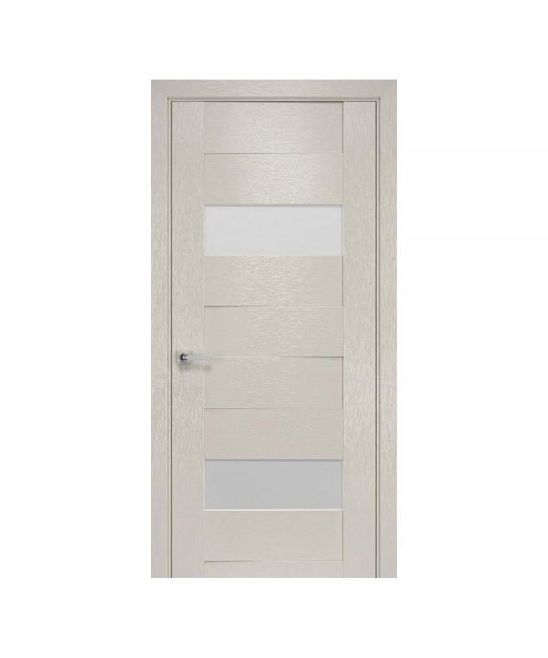 Межкомнатные двери Женева х-беж С черным стеклом