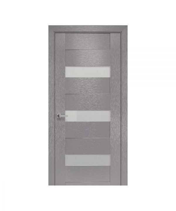 Межкомнатные двери Вена х-беж С черным стеклом