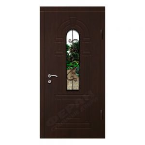 Входные двери Феран Модель Стекло 2 Ковка 6