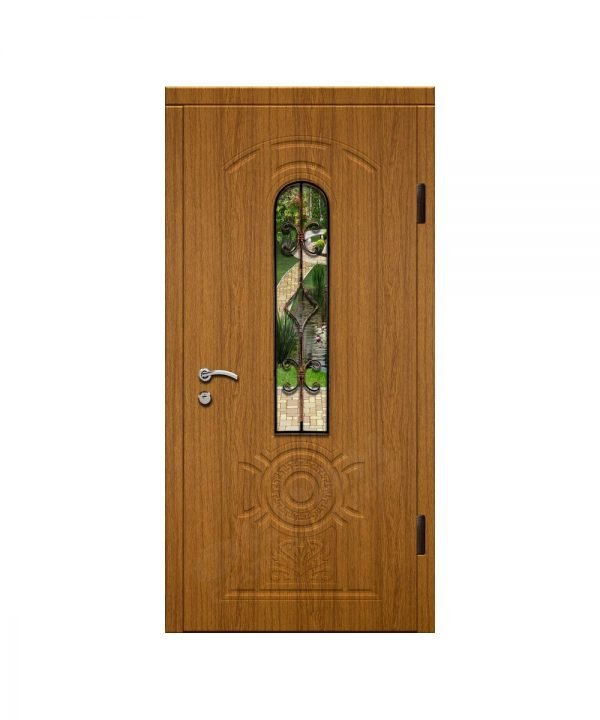 Входные двери Феран Модель Стекло 4 Ковка 1