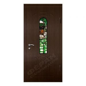 Входные двери Феран Модель Стекло 4 Ковка 5