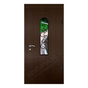 Входные двери Феран Модель Стекло 4 Ковка 6