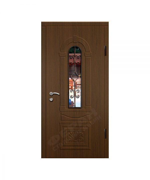 Входные двери Феран Модель Стекло 9 Ковка 1