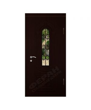 Входные двери Феран Модель Стекло 9 Ковка 3